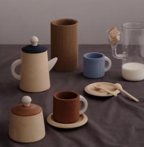 Set de thé en bois